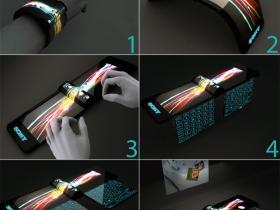 索尼腕带式投影电脑